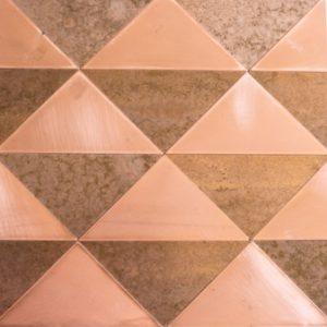OctoTerra OTP39 Copper Triangles Decorative Panel