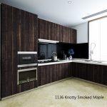 Octolam 1136 Knotty Smoked Maple Kitchen