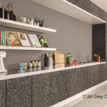 Octolam 1166 Grey Oak Buffet Shelving